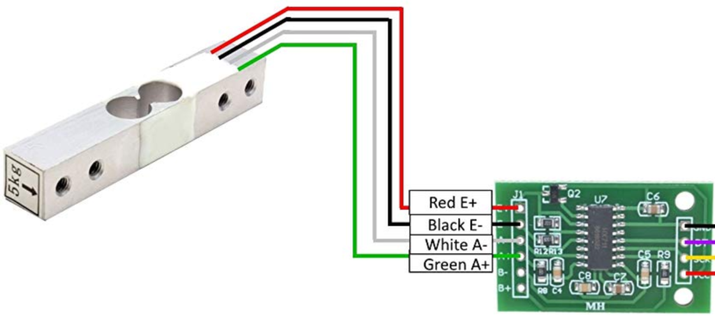 Connecting a Load Cell to a HX711 amplifier