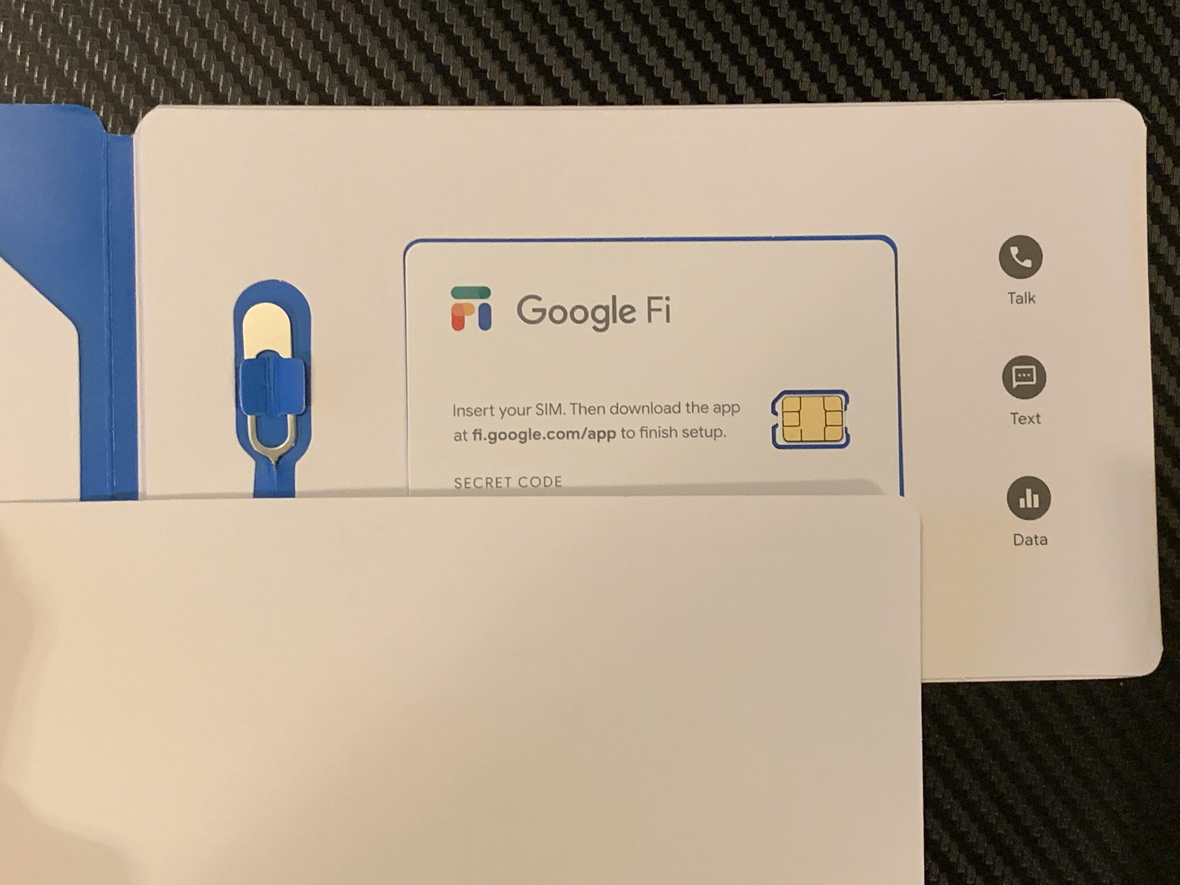 Google Fi SIM Kit (open)