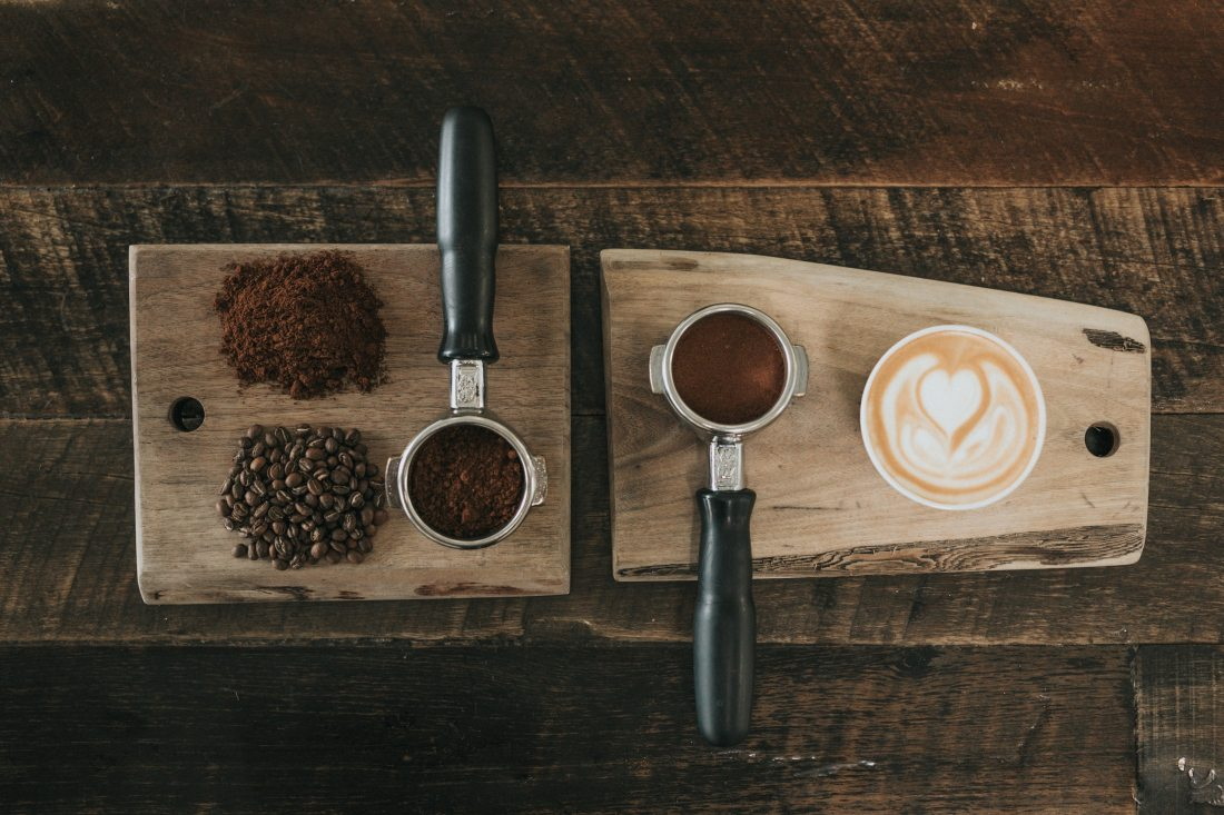 Coffee grounds and Coffee
